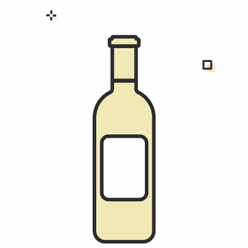 One bottle of wine